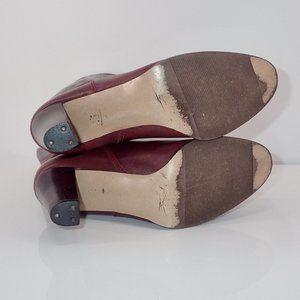 Etienne Aigner Shoes - Etienne Aigner Mid Calf Heeled Boots 7M Burgundy